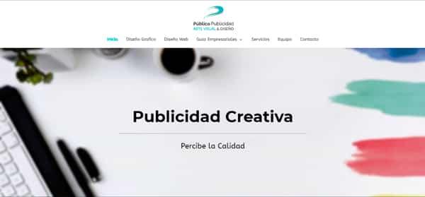 Diseño Web Cabecera Pagina Web Agencia Publico