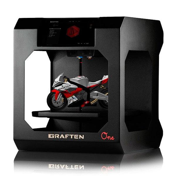 Modelo de Impresora 3D en color Negro