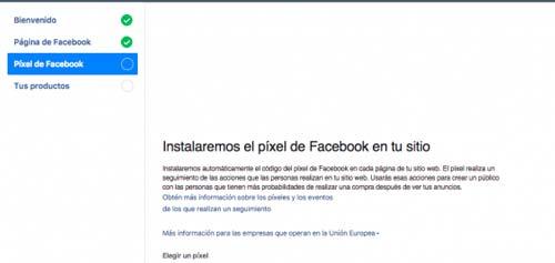 configurar pixel de facebook