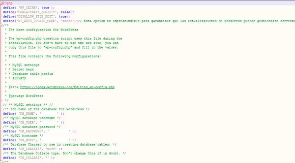Ejemplo de fichero config.php