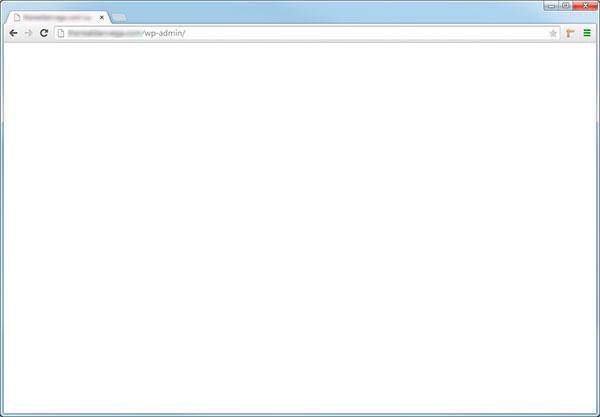 Pagina en Blanco en WordPress