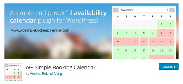 Sistema de reservas Online wp simple booking calendar